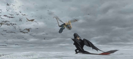 Deadly Nadder, gift of the night fury, gotnf, night fury, stormfly, toothloess, Never Too Old For HTTYD! GIFs