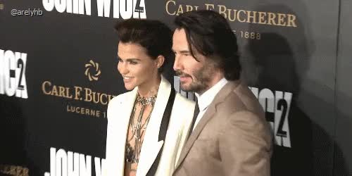 Watch and share Keanu Reeves GIFs and Ruby Rose GIFs on Gfycat