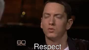 Watch Eminem doesn't want money, fame or awards, he wants Respect. GIF on Gfycat. Discover more Eminem, Eminem gif, respect, slimshady GIFs on Gfycat