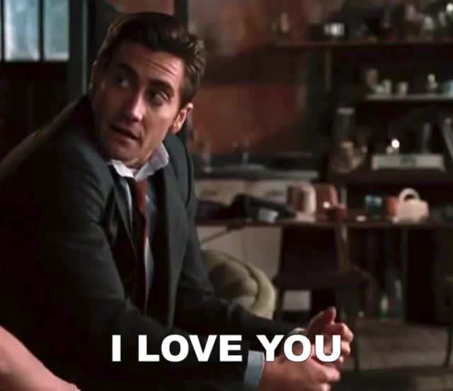 Watch and share Jake Gyllenhaal GIFs and I Love You GIFs by Reactions on Gfycat