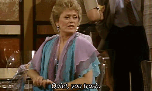be quiet, hush, quiet, rue mcclanahan, shhh, shush, shut up, silence, Blanche Quiet You trash GIFs