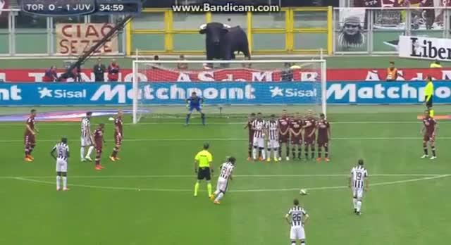 Watch and share Pirlo Scores Stunning Free Kick Vs Torino(GFY) [1-0] (reddit) GIFs by wazza_ppr on Gfycat