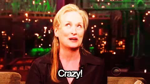 Watch and share Meryl Streep Gif GIFs and Simply The Best GIFs on Gfycat