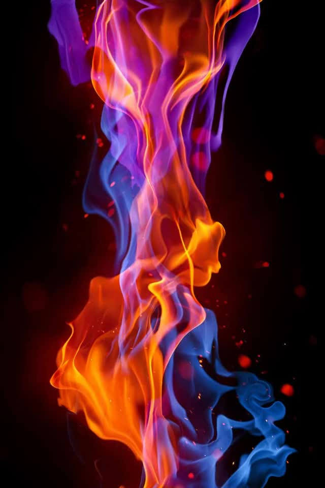 Watch this fire GIF by Photo Mirages (@insanewayne) on Gfycat. Discover more animation, blue, colorful, fire, flames, heat, hot, mirage, orange red, purple GIFs on Gfycat