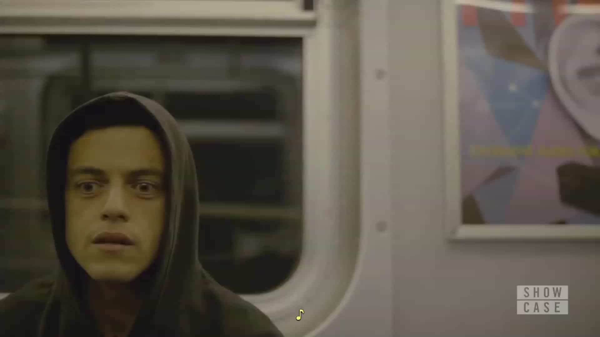 Rami Malek, mrrobot, mrrobotlounge, 3 reactions? GIFs