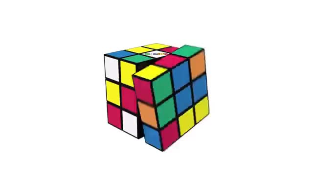 How To Solve A Rubik's Cube | OFFICIAL TUTORIAL PART 2 GIFs