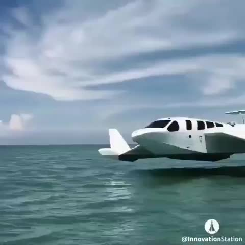 science II technology, Airplane fly's just about the water GIFs