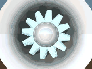 Simulated view of a wind tunnel fan GIFs