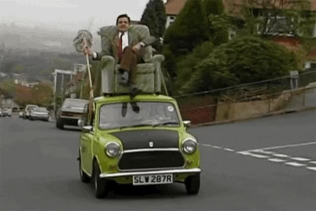 Watch and share Mr Bean Driving Car GIFs on Gfycat