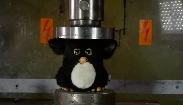 Watch Crushing Furby with Hydraulic Press GIF on Gfycat. Discover more related GIFs on Gfycat