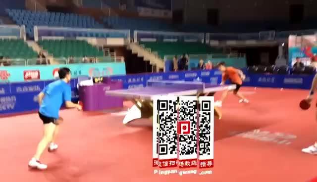 《乒乓球慢动作教学视频》第80集:马龙实战技术展示 GIFs