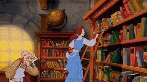 Watch this trending GIF by The GIF Smith (@sannahparker) on Gfycat. Discover more beauty and the beast, belle, bibliophile, book lover, books, bookworm, library, literature, novels, reading, world book day GIFs on Gfycat