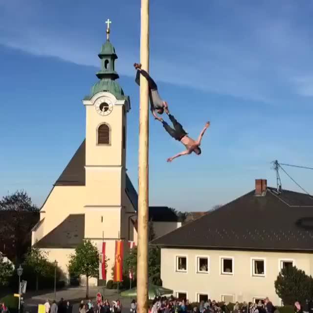 "Watch and share Austrian ""Maibaumkraxeln"" GIFs on Gfycat"