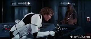 Watch and share Han Solo Shoots Intercom GIFs on Gfycat