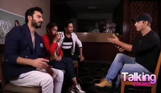Watch and share Talking Films HILARIOUS Quiz With Sidharth Malhotra   Alia Bhatt   Fawad Khan GIFs on Gfycat