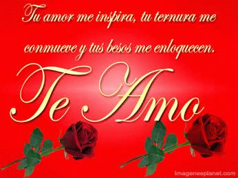 Frase De Amor Con Brillo Y Movimiento Junto A Unas Lindas Rosas