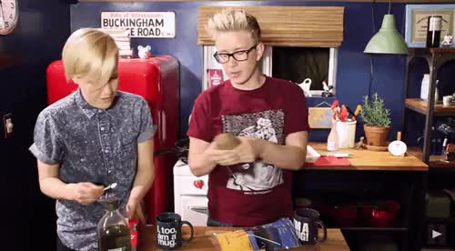 Watch mydrunkkitchen trying to set tyleroakley on fire GIF on Gfycat. Discover more hannah hart, holy trinity, mdk, my drunk kitchen, my post, team internet, tyler oakley, youtube, youtuber GIFs on Gfycat