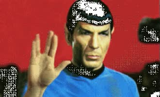 Watch and share Spock animated stickers on Gfycat