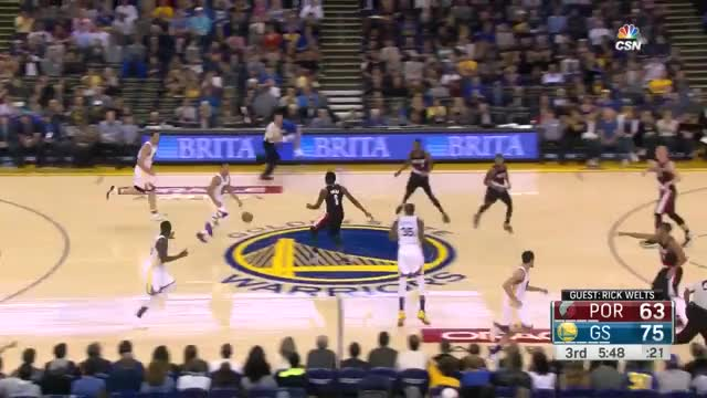 Watch and share Golden State Warriors 17 Three Pointers | Blazers Vs Warriors | October 21, 2016 | NBA Preseason GIFs on Gfycat