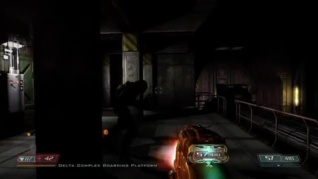 Doom 3 Walkthrough - BFG Edition - part 14 - Monorail (reddit) GIF