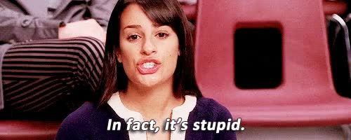 Watch and share Lea Michele GIFs and Stupid GIFs on Gfycat