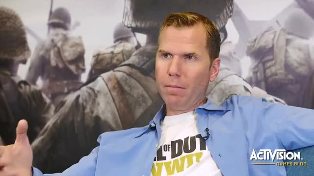 Watch Sledgehammer Games Talks Call of Duty: WWII - Interview with Michael Condrey GIF on Gfycat. Discover more WW2, WWII, activision, codwwii GIFs on Gfycat
