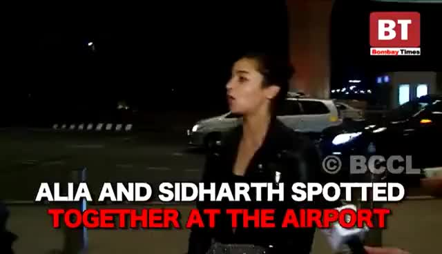Sidharth and Alia spotted together at the airport
