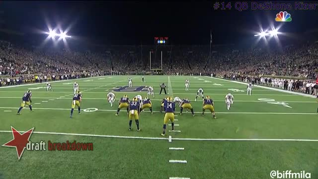 Watch and share DeShone Kizer (Notre Dame) Vs. Stanford (2016) GIFs by jonah7073 on Gfycat