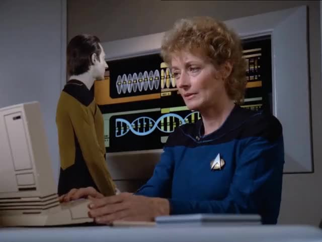 Watch Star Trek: The Next Jeneration GIF by Star Trek gifs (@star-trek-gifs) on Gfycat. Discover more Brent Spiner, Commander Data, Data, Diana Muldaur, Katherine Pulaski, Pulaski, Star Trek, Star Trek The Next Generation, TNG, The Next Generation GIFs on Gfycat
