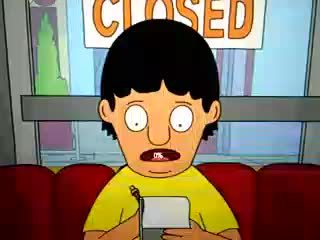 Perfectfit, perfectfit, Windows 8's loading animation lined up with Gene's nose almost perfectly while watching Bob's Burgers (reddit) GIFs