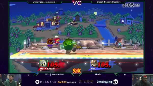 S@X - Shofu (Fox) Vs. VGz lloD (Peach) SSB4 Losers Quarters - Smash 4 Wii U (reddit)