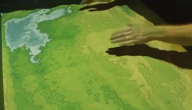 UCLA's Augmented Reality Sandbox GIFs