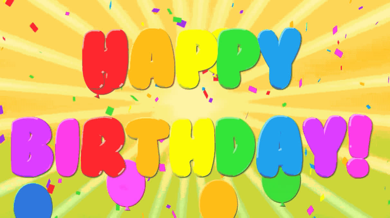 ballons, bday, birthday, celebrate, celebrating, color, confetti, happy, happy birthday, old, party, partying, Happy birthday GIFs
