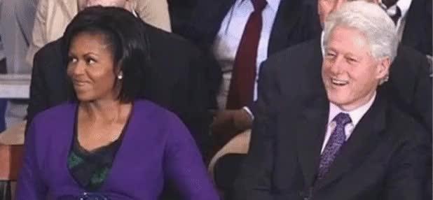 bill clinton, michelle obama, Payback : pics GIFs