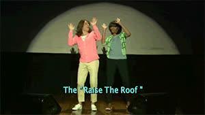 jimmy fallon, raise the roof, raise the roof raise it GIFs