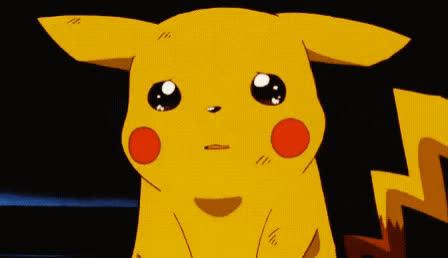 boohoo, cry, crying, disappointed, emo, emotional, hormonal, no, pikachu, pokemon, sad, upset, Pikachu is so sad GIFs