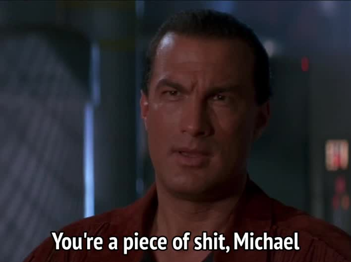 celebs, on deadly ground, steven seagal, On Deadly Ground - Scum of the earth GIFs