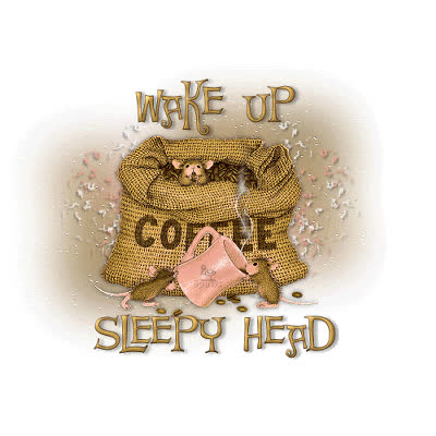coffee, sleepy, tired, wake, wake up, wake up sleepy head GIFs