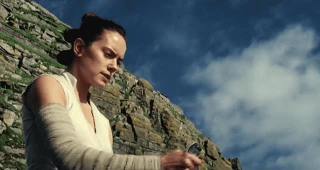 Watch this trending GIF by The GIF Smith (@sannahparker) on Gfycat. Discover more daisy ridley, light saber, rey, star wars, the last jedi GIFs on Gfycat