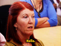 kate flannery, the office michael scott steve carell meredith palmer GIFs