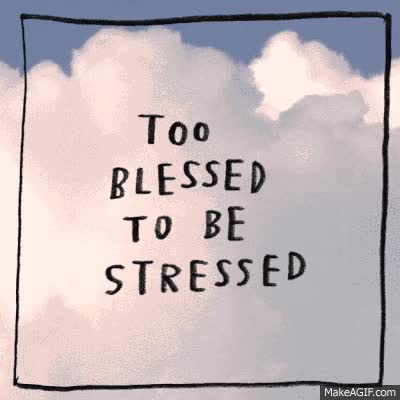 Watch and share Too Blessed To Be Stressed GIFs on Gfycat