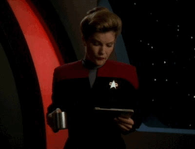 annoyed, annoying, celebs, do not, exacerbate, janeway, kate mulgrew, o rly, oh really, reaction, really, seriously, sigh, star trek, stop, voyager, wat, why, o rly? GIFs