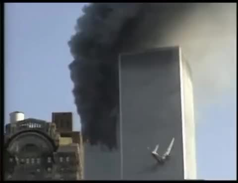 Watch and share 9/11: WTC South Tower Plane Crash GIFs on Gfycat