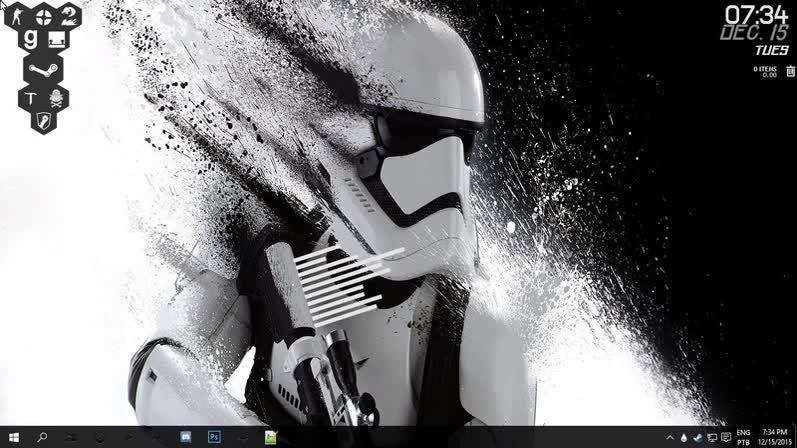 notinteresting, pcmasterrace, rainmeter, My new rainmeter desktop! GIFs