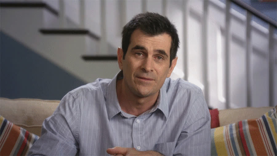 bad, boohoo, cry, disappointed, dunphy, family, modern, modern family, news, phil, sad, smile, unfortunately, Phil Dunphy is sad GIFs