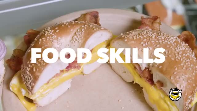 How New York Bagels Are Made   Food Skills GIF by The Livery of GIFs