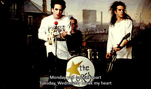 Watch and share Gif Music Video The Cure Friday I'm In Love GIFs on Gfycat