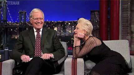 Watch and share David Letterman GIFs and Helen Mirren GIFs on Gfycat