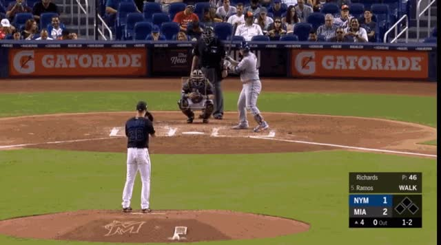 Watch and share Miami Marlins GIFs and New York Mets GIFs by natewattpl on Gfycat