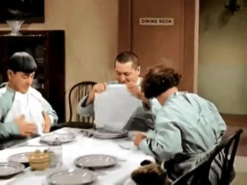 Watch and share Three Stooges GIFs and Lunch Break GIFs by Bob on Gfycat
